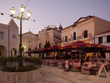Restaurants at Dusk, St. Markos Square, Zakynthos Town, Zakynthos, Ionian Islands, Greek Islands, G Photographic Print by Frank Fell