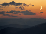 Crescent Moon at Sunset over the Blue Ridge Mountains Photographic Print by Amy & Al White & Petteway