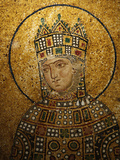 Mosaic of Empress Zoe, Hagia Sophia, Istanbul, Turkey, Europe Photographic Print by  Godong