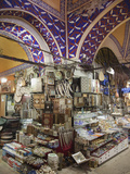 A Stall Selling Souvenirs in the Grand Bazaar, in Istanbul, Turkey Photographic Print by Nigel Hicks