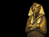 A Coffin of Solid Gold Held King Tut's Mummified Remains Fotografisk tryk af Kenneth Garrett