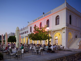 Restaurant at Dusk, Solomos Square, Zakynthos Town, Zakynthos, Ionian Islands, Greek Islands, Greec Photographic Print by Frank Fell