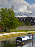 Hackney Wick, River Lee Navigation and London 2012 Olympic Stadium, London, England, United Kingdom Photographic Print by Alan Copson