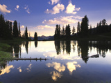 Reflections of Clouds in Paradise Divide Lake Photographic Print by Robbie George