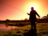 Fishing at Sunset Photographic Print by Chris Hill