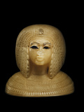 Canopic Jar Lid With the Image of Queen Kiya, Akhenaten's Second Wife Photographic Print by Kenneth Garrett
