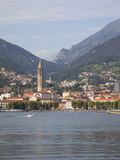 View of Town and Lake, Lecco, Lake Como, Lombardy, Italian Lakes, Italy, Europe Photographic Print by Frank Fell