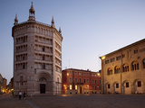 The Baptistry at Dusk, Piazza Duomo, Parma, Emilia Romagna, Italy, Europe Photographic Print by Frank Fell