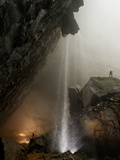 A Cascading Waterfall in Hang Son Doong Photographic Print by Peter Carsten