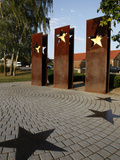 Monument for the Schengen Convention, Schengen, Mosel-Valley, Luxembourg, Europe Photographic Print by Hans-Peter Merten