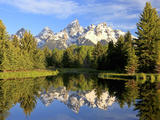 Reflections of the Teton Range in Schwabacher Landing Fotografisk trykk av Robbie George