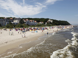 Beach at the Baltic Sea Spa of Bansin, Usedom, Mecklenburg-Western Pomerania, Germany, Europe Photographic Print by Hans-Peter Merten