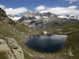 Lake Schwarzsee Near Zermatt, Valais, Swiss Alps, Switzerland, Europe Photographic Print by Hans-Peter Merten