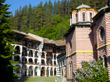 Courtyard, Dormitories and Church of the Nativity, Rila Monastery, UNESCO World Heritage Site, Nest Photographic Print by Dallas & John Heaton