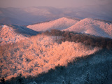 Snow Covered Mountains at Dawn in the Blue Ridge Mountains Photographic Print by Amy & Al White & Petteway