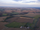 View over Essex Farmland from a Hot Air Balloon, Essex, England, United Kingdom, Europe Photographic Print by Ethel Davies