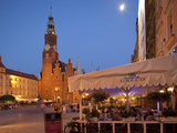 Town Hall at Dusk, Market Square (Rynek), Old Town, Wroclaw, Silesia, Poland, Europe Photographic Print by Frank Fell