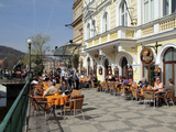 Restaurant in the Old Town, Prague, Czech Republic, Europe Photographic Print by Hans-Peter Merten