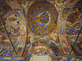 Arcade Murals Depicting Religious Figures and Scenes, Church of the Nativity, Rila Monastery, UNESC Photographic Print by Dallas & John Heaton