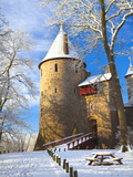 Castell Coch in Snow, Tongwynlais, Cardiff, South Wales, Wales, United Kingdom, Europe Photographic Print by Billy Stock