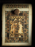 An Ivory-Paneled Box Shows King Tut With His Beloved Queen Photographic Print by Kenneth Garrett