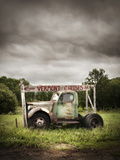An Old Truck with a 'Vermont Cheese' Sign on a Farm in Ludlow Photographic Print by Keith Barraclough