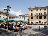 Piazza and Cafe, Menaggio, Lake Como, Lombardy, Italy, Europe Photographic Print by Frank Fell