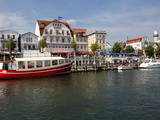 Harbour, Warnemunde, Mecklenburg-Western Pomerania, Germany, Europe Photographic Print by Hans-Peter Merten