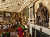 A Statue of King James Dominates a Lavish Room in Hatfield Palace Photographic Print by Jim Richardson