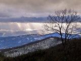 Rays of Sunlight over Snowy Forests in the Blue Ridge Mountains Photographic Print by Amy & Al White & Petteway