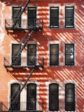 A Red Brick Building with a Fire Escape Off of Union Square Photographic Print by Keith Barraclough