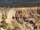 Tourists at Viewppoint, Bryce Canyon National Park, Utah, United States of America, North America Photographic Print by Colin Brynn