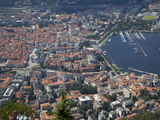 View of the Town of Como from Brunate, Lake Como, Lombardy, Italian Lakes, Italy, Europe Photographic Print by Frank Fell
