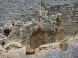 The Madara Rider, an 8th Century Relief Depicting a King on Horseback Carved into Rockface, UNESCO  Photographie par Dallas &amp; John Heaton