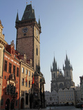 Old Town Hall and Tyn Cathedral, Prague, Czech Republic, Europe Photographic Print by Hans-Peter Merten