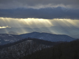 Sunlight Streams Through Storm Clouds over the Blue Ridge Mountains Photographic Print by Amy & Al White & Petteway