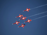 Aerobatic Team, Patrouille Swiss, Switzerland, Europe Lámina fotográfica por Hans-Peter Merten