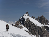 Aiguille Du Midi, View of the Mont Blanc Massif, Chamonix, Haute Savoie, French Alps, France, Europ Photographic Print by Angelo Cavalli