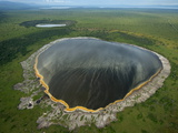 A Crater Lake Formed By Volcanic Explosion in Queen Elizabeth Park Photographic Print by Joel Sartore
