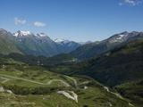 The Road to Splugen Pass, Canton Graubunden, Swiss Alps, Switzerland, Europe Photographic Print by Angelo Cavalli