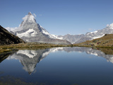 Riffelsee and the Matterhorn, Zermatt, Valais, Swiss Alps, Switzerland, Europe Photographic Print by Hans-Peter Merten