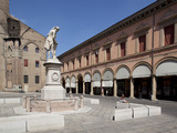 Statue and Cathedral, Piazza Galvani, Bologna, Emilia Romagna, Italy, Europe Photographic Print by Frank Fell