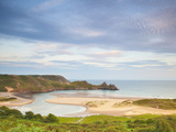 Three Cliffs Bay, Gower, South Wales, Wales, United Kingdom, Europe Photographic Print by Billy Stock