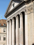 Front Entrance of St. Peter's Cathedral, Geneva, Switzerland, Europe Photographic Print by  Godong