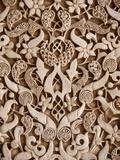 Detail, Palacio De Los Leones Sculpture, Nasrid Palaces, Alhambra, UNESCO World Heritage Site, Gran Fotodruck von  Godong