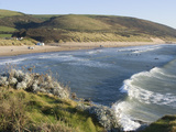 The Beach with Surfers at Woolacombe, Devon, England, United Kingdom, Europe Photographie par Ethel Davies