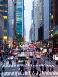 42nd Street in Mid Town Manhattan, New York City, New York, United States of America, North America Lmina fotogrfica por Gavin Hellier