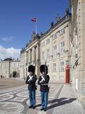 Guards at the Amalienborg Castle, Copenhagen, Denmark, Scandinavia, Europe Photographie par Frank Fell