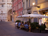 Cafe and Baptistry, Parma, Emilia Romagna, Italy, Europe Photographic Print by Frank Fell