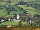 The Village of Widecombe in the Moor, Dartmoor National Park, Devon, England, United Kingdom, Europ Photographic Print by James Emmerson